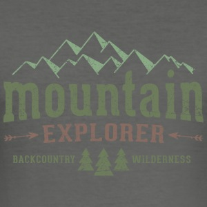 Mountain Explorer Jutebeutel - Männer Slim Fit T-Shirt