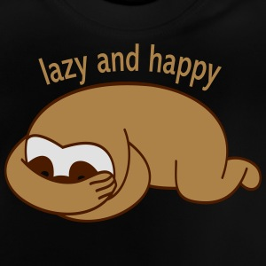 lazy and happy Tröjor - Baby-T-shirt