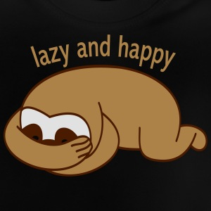 lazy and happy Långärmade T-shirts - Baby-T-shirt