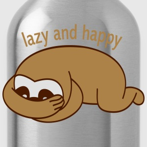 lazy and happy Långärmade T-shirts - Vattenflaska