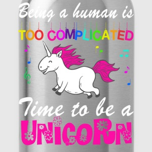 MAN BE IS COMPLICATED - I'M A UNICORN! T-Shirts - Water Bottle