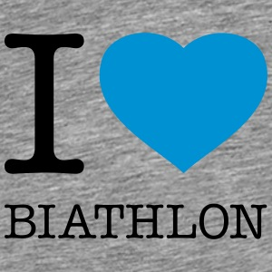 I LOVE BIATHLON - Men's Premium T-Shirt