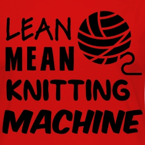 Lean mean knitting machine T-Shirts - Women's Premium Longsleeve Shirt