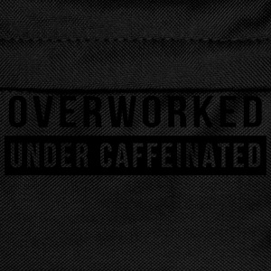 Overworked. Under Caffeinated T-Shirts - Kids' Backpack