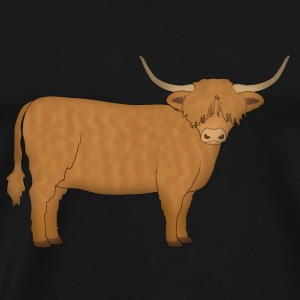 Highland cattle à la recherche Sweat-shirts - T-shirt Premium Homme