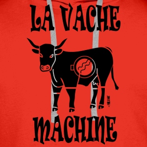 LA VACHE MACHINE - Sweat-shirt à capuche Premium pour hommes