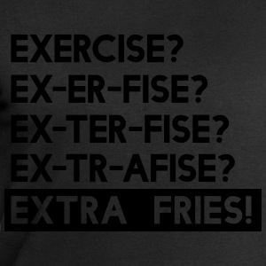 Exercise? Extra Fries T-Shirts - Men's Sweatshirt by Stanley & Stella