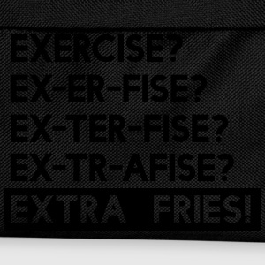Exercise? Extra Fries T-Shirts - Kids' Backpack