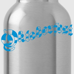 Bavarian flag pattern oktoberfest lettering text d T-Shirts - Water Bottle