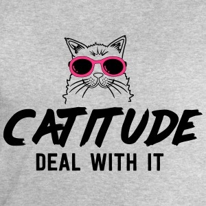 Catitude. Deal with it T-Shirts - Men's Sweatshirt by Stanley & Stella