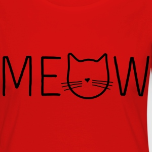 Meow Cat Face T-Shirts - Women's Premium Longsleeve Shirt