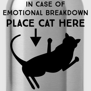 In case of emotional breakdown. Place cat here T-Shirts - Water Bottle