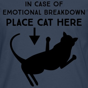 In case of emotional breakdown. Place cat here T-Shirts - Men's Premium Longsleeve Shirt