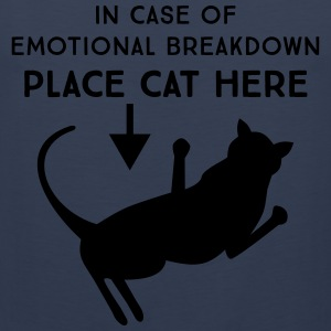 In case of emotional breakdown. Place cat here T-Shirts - Men's Premium Tank Top