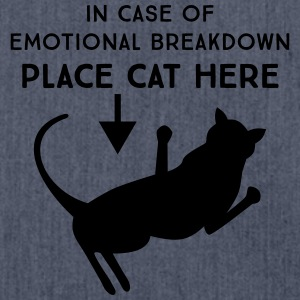 In case of emotional breakdown. Place cat here T-Shirts - Shoulder Bag made from recycled material