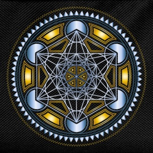 METATRONS CUBE, FLOWER OF LIFE, SPIRITUALITY Long Sleeve Shirts - Kids' Backpack