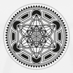 METATRONS CUBE, SACRED GEOMETRY, SPIRITUALITY Bouteilles et Tasses - T-shirt Premium Homme