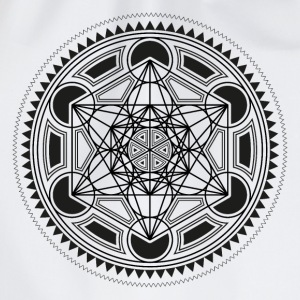 METATRONS CUBE, SACRED GEOMETRY, SPIRITUALITY T-Shirts - Drawstring Bag