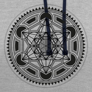 METATRONS CUBE, SACRED GEOMETRY, SPIRITUALITY T-shirts - Contrast hoodie