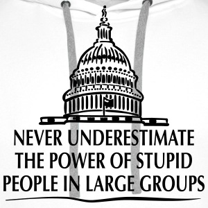 TRUMP: Stupid People in Large Groups T-shirts - Premiumluvtröja herr