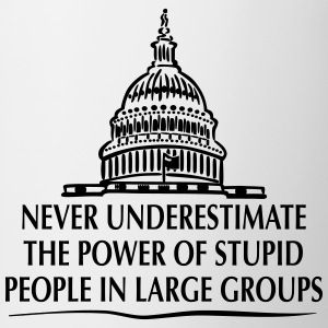 TRUMP: Stupid People in Large Groups T-Shirts - Mug