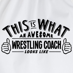 awesome wrestling coach looks like pro d - Drawstring Bag