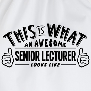 awesome senior lecturer looks like pro d - Drawstring Bag