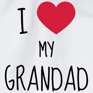 Grandpa Grandad Grandfather Family Baby Funny T-Shirts - Drawstring Bag