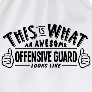 awesome offensive guard looks like pro d - Drawstring Bag
