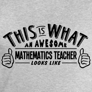 awesome mathematics teacher looks like p - Men's Sweatshirt by Stanley & Stella