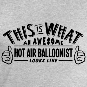 awesome hot air balloonist looks like pr - Men's Sweatshirt by Stanley & Stella