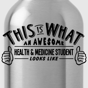 awesome health  medicine student looks l - Water Bottle
