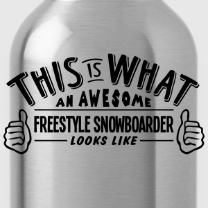awesome freestyle snowboarder looks like - Water Bottle