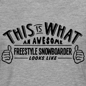 awesome freestyle snowboarder looks like - Men's Premium Longsleeve Shirt