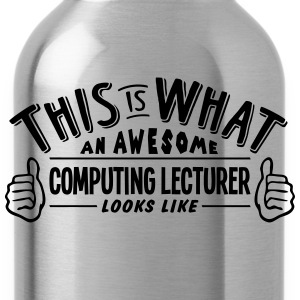 awesome computer science teacher looks l - Water Bottle