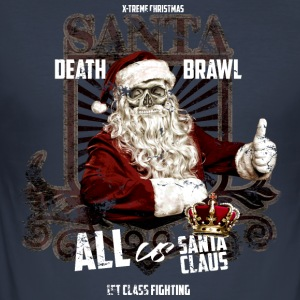 santa death brawl x-mas Pullover & Hoodies - Männer Slim Fit T-Shirt