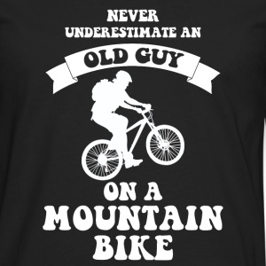 Never underestimate an old guy on a mountain bike - Men's Premium Longsleeve Shirt