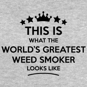 weed smoker world greatest looks like - Men's Sweatshirt by Stanley & Stella