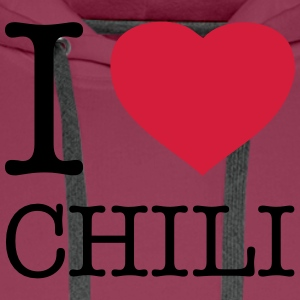 I LOVE CHILI - Men's Premium Hoodie