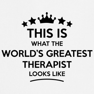 therapist world greatest looks like - Cooking Apron