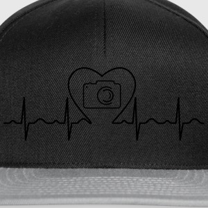 Heartbeat Love Photography Camisetas - Gorra Snapback