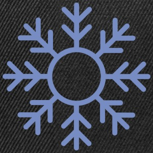 Blue Snowflake ornament Shirts - Snapback Cap