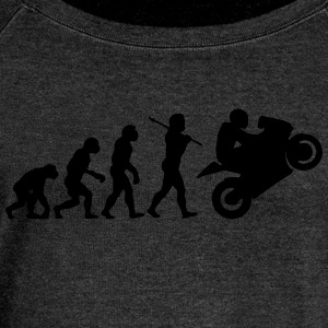 motorcycle evolution - Women's Boat Neck Long Sleeve Top