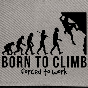 rock climbing evolution born to climb fo - Snapback Cap