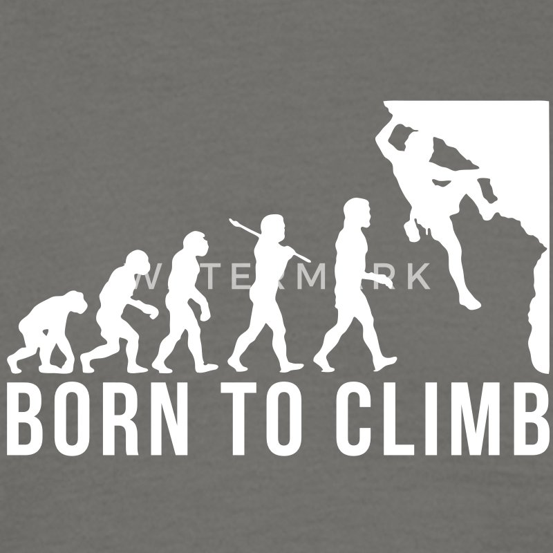 rock climbing evolution born to climb - Men's T-Shirt