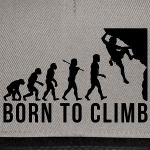 rock climbing evolution born to climb - Snapback Cap