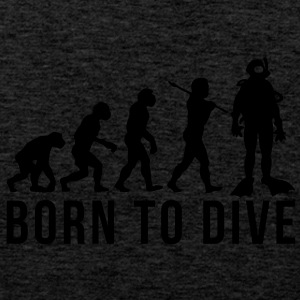 scuba diver evolution born to dive - Men's Premium Tank Top