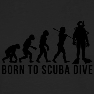 scuba diver evolution born to scuba dive - Men's Premium Longsleeve Shirt