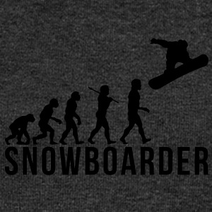 snowboarding evolution snowboarder - Women's Boat Neck Long Sleeve Top