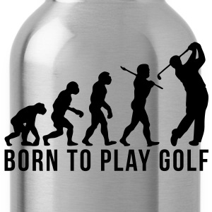 golf evolution born to play golf - Water Bottle
